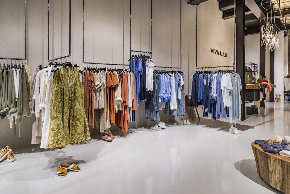 VIVI&LULU - predajne s dámskou módou - interier predajne po rekonštrukcii priestoru